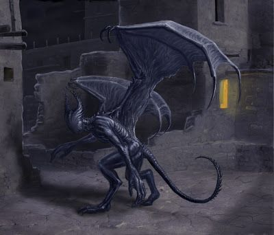The Lovecraft Mythos Bestiary by K.L. Turner: Nightgaunt