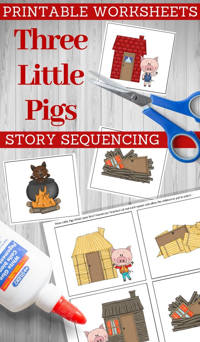 Three Little Pigs Story Sequencing Printable Cards Three Little Pigs Story Nursery Rhymes Preschool Crafts Three Little Pigs [ 1200 x 700 Pixel ]