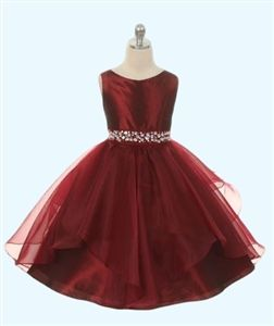 Racquel Party Dress - BURGUNDY