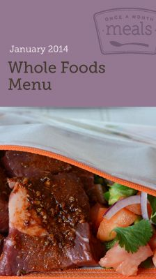 Whole Foods -  Resources to cook a month worth of whole and real food meals in one day. Grocery lists, recipe cards, instructions and more.