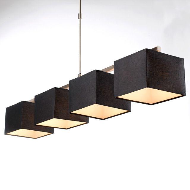 Lustre 4 lumi res strada h 28 60 w noir castorama home for Castorama luminaire salon