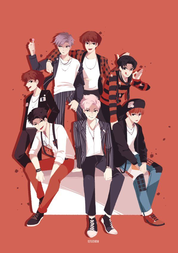 BTS 'War Of Hormone' Fanart it also looks good as a wallpaper. All credit goes to the owner.