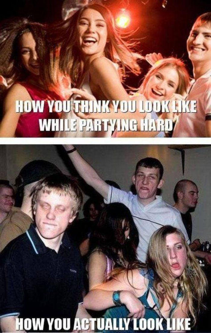 Partying hard meme