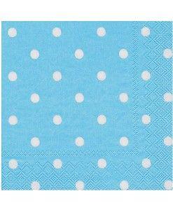 Doğum günü parti süslemeleri için birinci kalite Mavi Puanlı Kağıt Peçete ürünümüzü online olarak uygun fiyatlar ile satın alabilirsiniz
