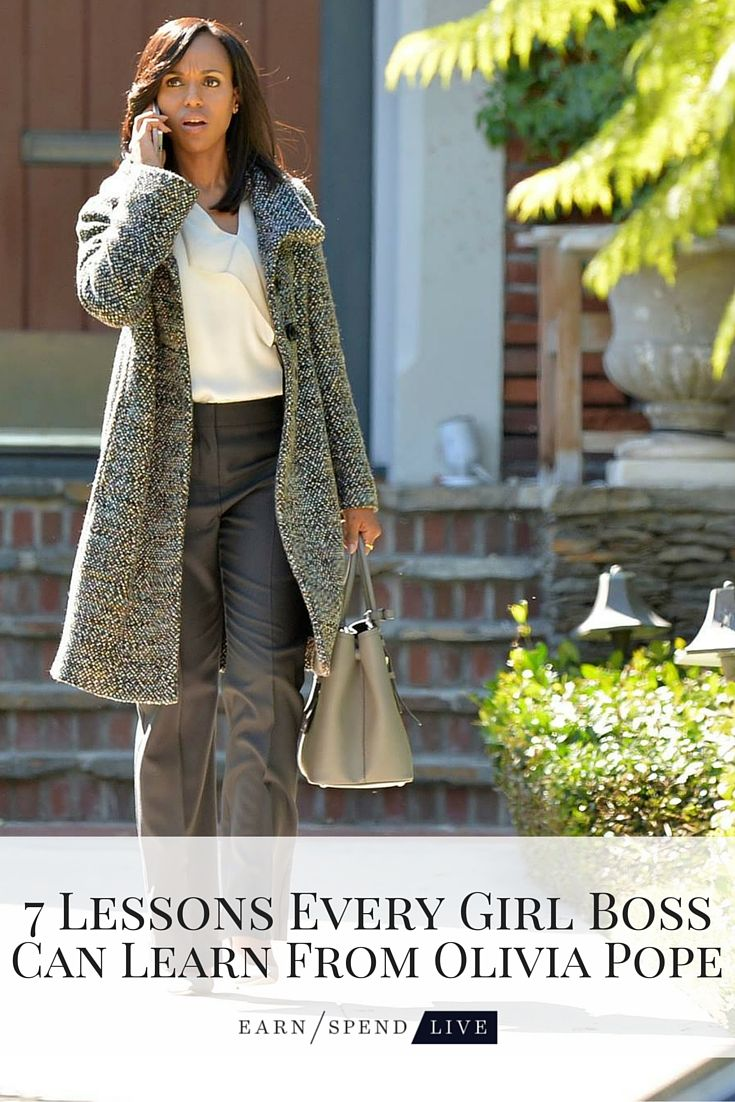 Because who doesn't want to be a girl boss like Olivia Pope?