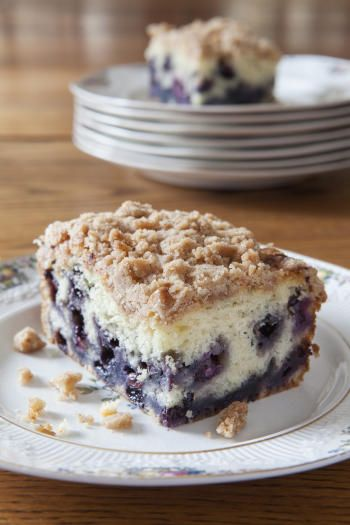 Blueberry Buckle #Recipe | ExploreAsheville.com