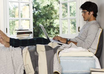 A Winter Equinox Throw from Crispina - used in a Tempur-Pedic ad.