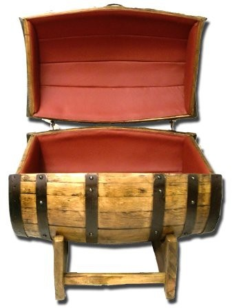 Whiskey Barrel Chest made from Previously Used Barrel