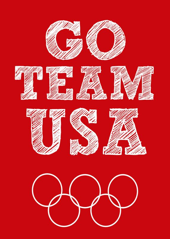 Love the Olympics! .50? I can do that! Go Team USA Olympic 5x7 Printable Sign 5 x 7 Picture by BabyWilde, $0.50