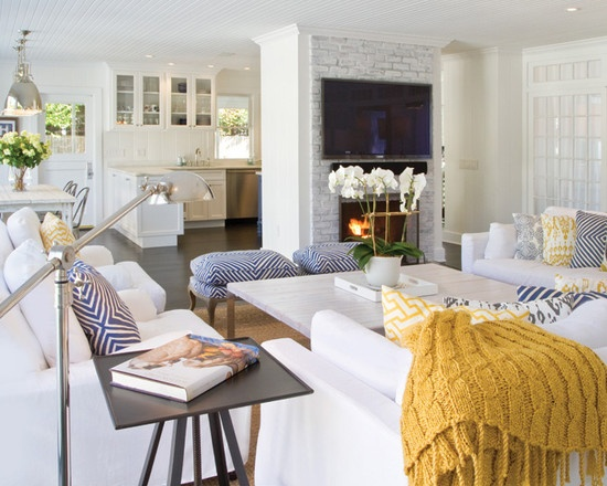 Spaces White Living Rooms Design, Pictures, Remodel, Decor and Ideas - page 28