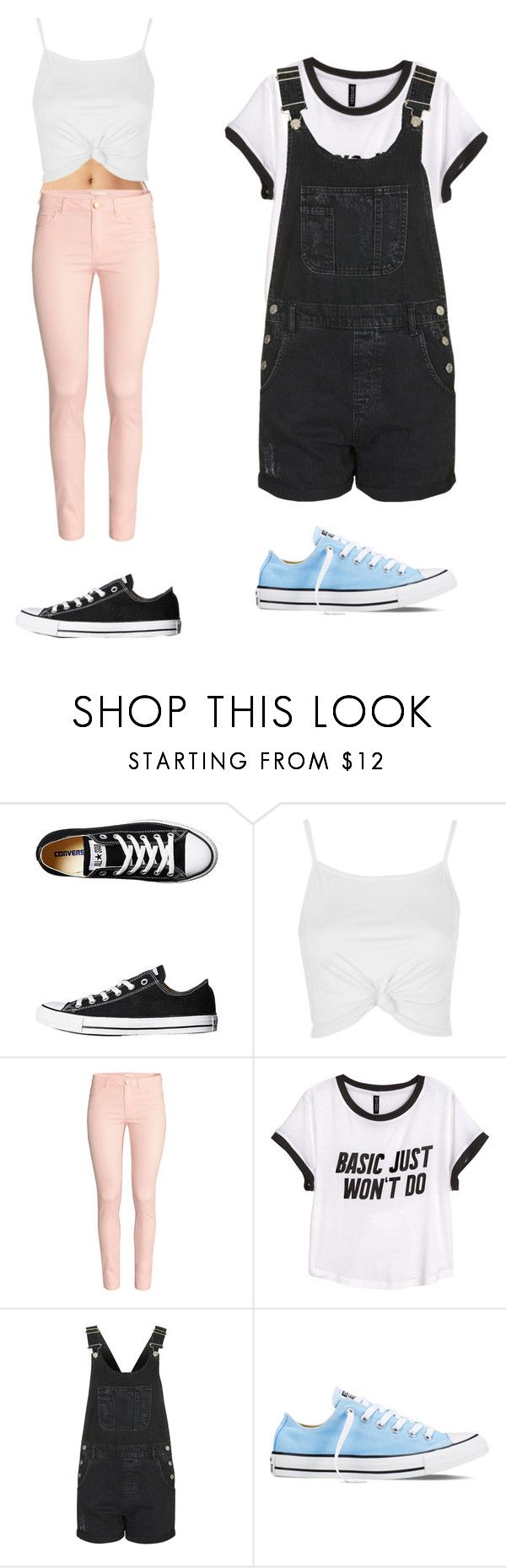 """Converse"" by maybeckc on Polyvore featuring Converse, Topshop and H&M"