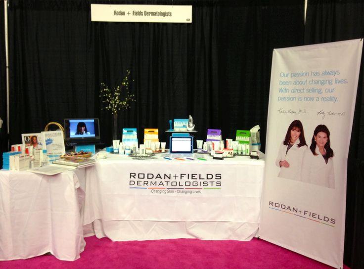 rodan fields table display at the nj womens expo