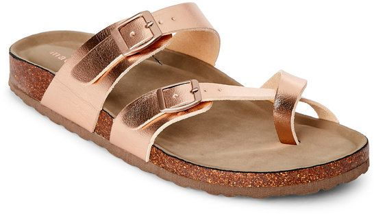 Rose Gold Bryceee Footbed Sandals