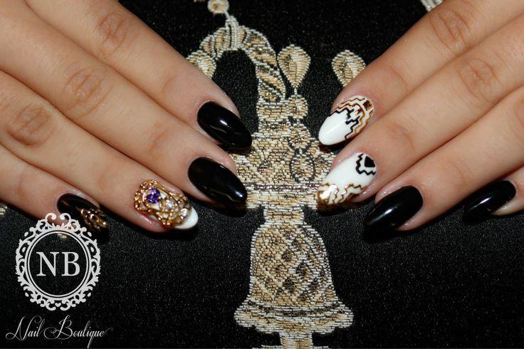aztec print super nails