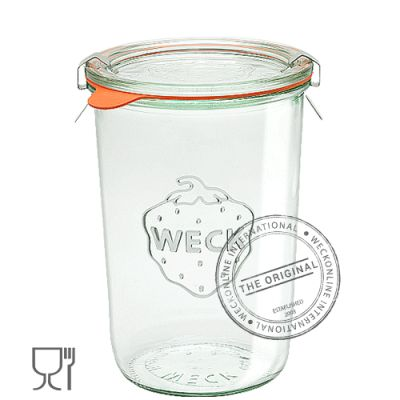 What's in the box: 6 Jars & 6 glass lids Weck reusable Glass Jars are of the highest quality and contain NO BPA! (Bisphenol A). These jars are suitable for water bath, and pressure canning.  With the added bonus of being able to freeze and bake! (Baking in the jar is not possible with Ball Mason or Fowlers Vacola) The most versatile and beautiful preserving jar available today. Weck canning jars are made with thick glass to withstand boiling, sterilizing and processing over and over again…
