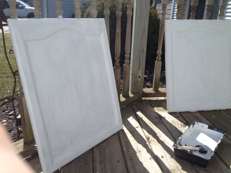 Bathroom cabinet doors after few coats of primer