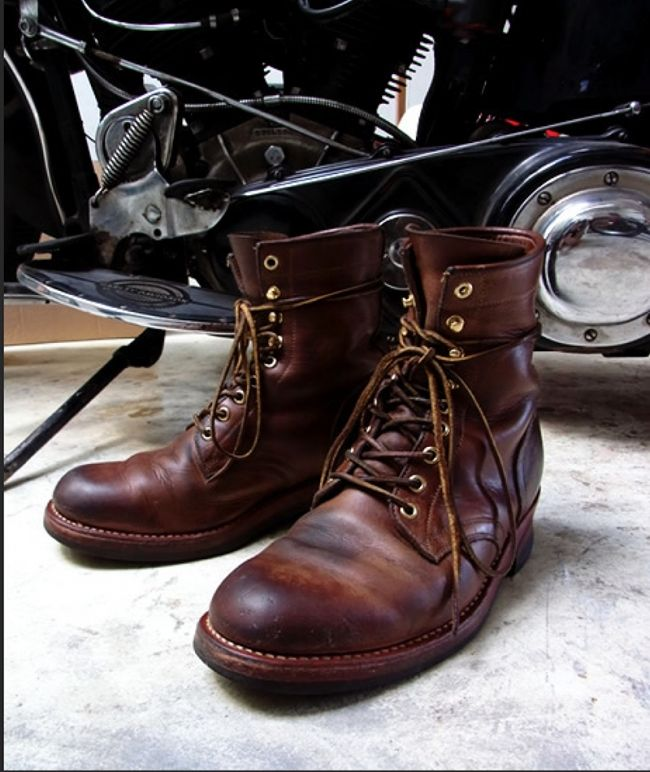 bota masculina de couro chromexcel da motor leather