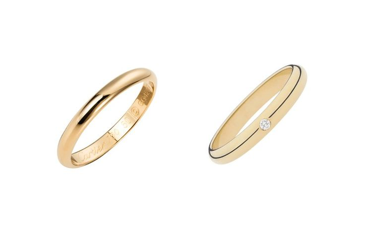 Cartier classic wedding band in yellow gold