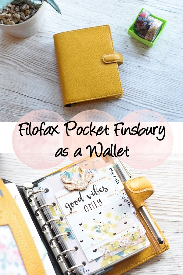 How I set up my Filofax Pocket Finsbury as a wallet to help with expense tracking and budget planning.