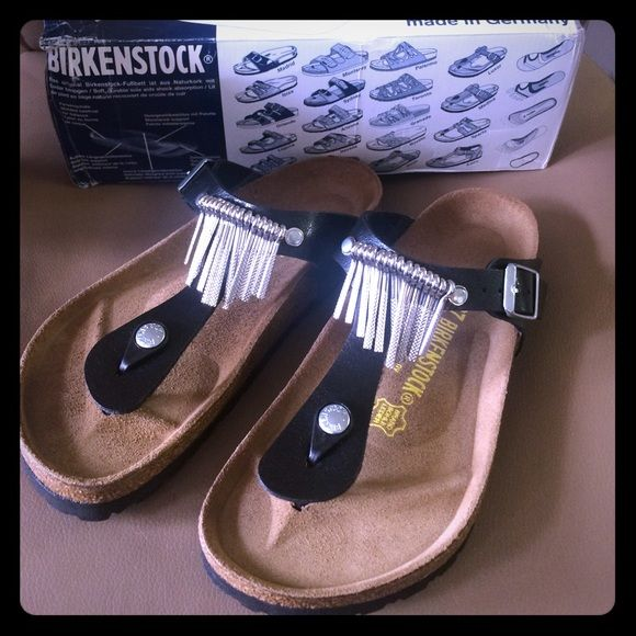 I just discovered this while shopping on Poshmark: Birkenstock Gizeh Fringe SandalNWT. Check it out!  Size: 7, listed by callen15