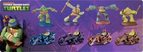 "tmntpartyvan:  [BREAKING] TMNT Toys Coming to McDonald's Happy Meals  ""The McDonald's Happy Meal website is currently showing the above TMNT toys as being next on the schedule for Happy Meal toys. This makes the TMNT the scheduled January ""boy"" toy, although they will likely start appearing in restaurants slightly earlier than that."" - Ninja Pizza  Source [Ninja Pizza]"