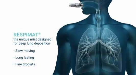 Respimat for #COPD is the only inhaler that actively delivers a #unique mist…