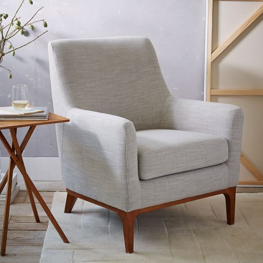 Sloan upholstered chair west elm 31 5 w x 35 5 d x 39 h - Modern upholstered living room chairs ...