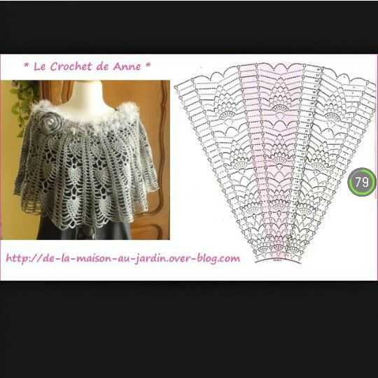 11 best poncho images on Pinterest | Ponchos, Chal y Ganchillo