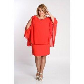 Vestido corto de gasa de #SPGJenuan para todas las tallas #tallasgrandes disponible tambien en negro y marino