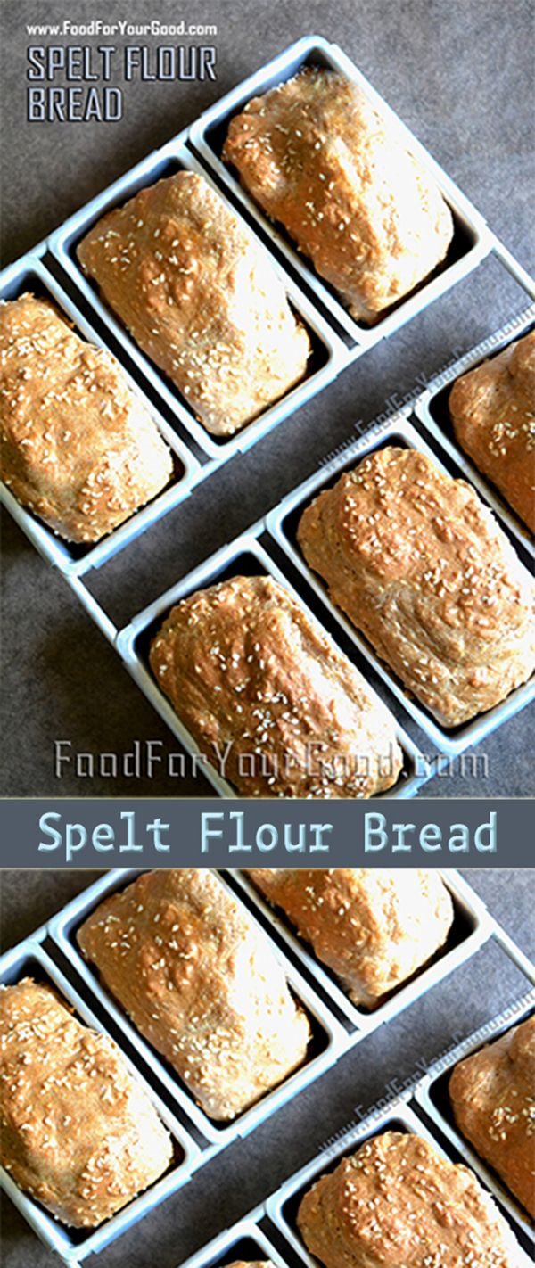 This is a very simple and delicious recipe for Spelt Flour Bread. If you are in search of a new recipe which will change your baking routine then this is ... | FoodForYourGood.com #spelt_flour_bread