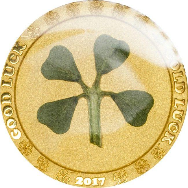 1 Dollar Gold Vierblättriges Kleeblatt PP
