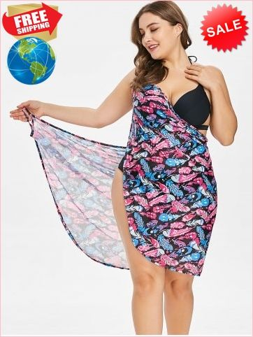 bcbd4a3ac9 Best Prices Feathers Print Plus Size Beach Dress 2287560  HfgN3QRPzu4L89F5akqB Cheap Sale @RoseGal.com