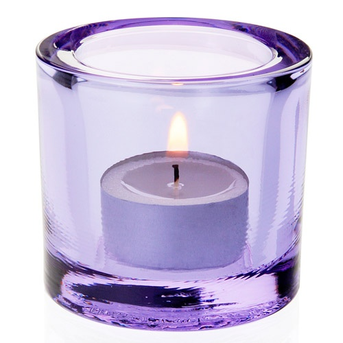 iittala Kivi Candle Holder - Light Lilac $45.00 #pintofinn I didn't know they came in purple!