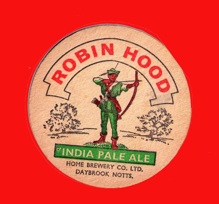 British Beer mats, Home Brewery, Notts, Robin Hood India Pale Ale, IPA