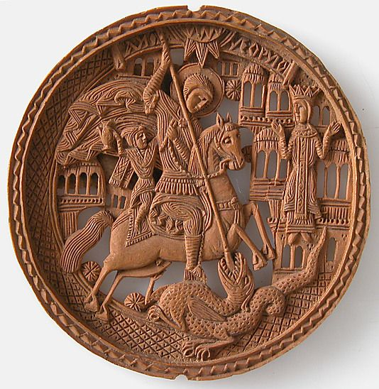 Medallion, St. George Slaying The Dragon