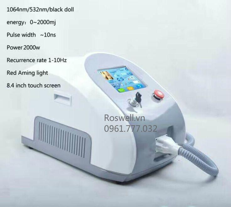 MÁY LASER XÓA XĂM ROSWELL ND YAG sử dụng công nghệ laser của châu âu lắp ráp và sản xuất tại Bắc Kinh.