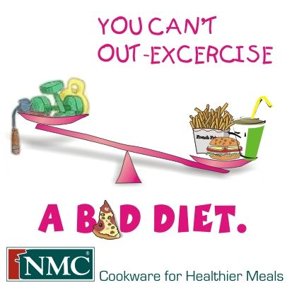 You can't out-excercise a bad diet. lol. from NMC Cookware