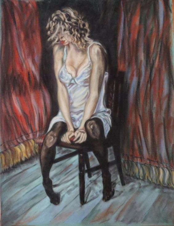 Buy Tired performance, Pastel drawing by Anna  Sasim on Artfinder. Discover other original art for sale, independent artists, soft pastel art,  woman drawing, woman painting.