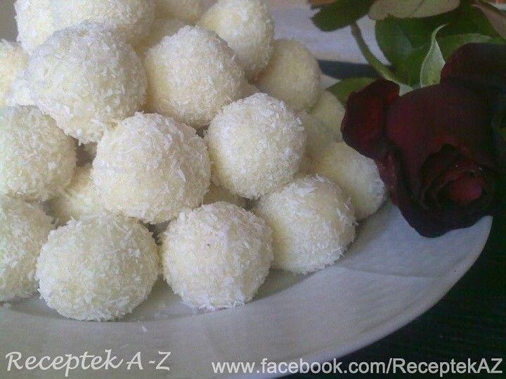Raffaello – Kókuszgolyók mandulával recept - 250 g kókuszreszelék 397 g édesített sűrített tej mandula