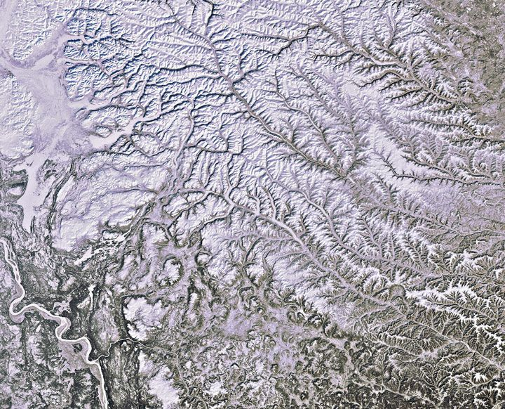 18 paysages saisissants pris depuis l'espace qui prouvent que la Terre est une splendide oeuvre d'art