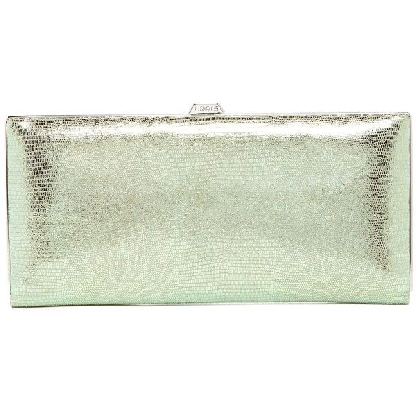 Lodis Sophia Glamorous Andra Leather Clutch Wallet ($80) ❤ liked on Polyvore featuring bags, wallets, emr, clutch wallet, leather credit card holder wallet, genuine leather wallet, card case wallet and green leather bag