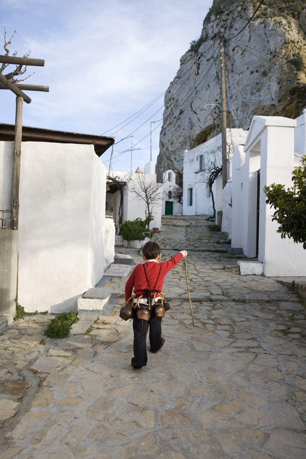 Dionysian goat dance festival of carnival, Island Of Skyros, Greece