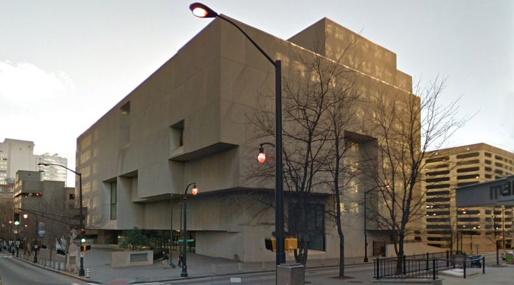 Atlanta Central Library - 1980 by Marcel Breuer - #architecture #googlestreetview #googlemaps #googlestreet #usa #atlanta #brutalism #modernism
