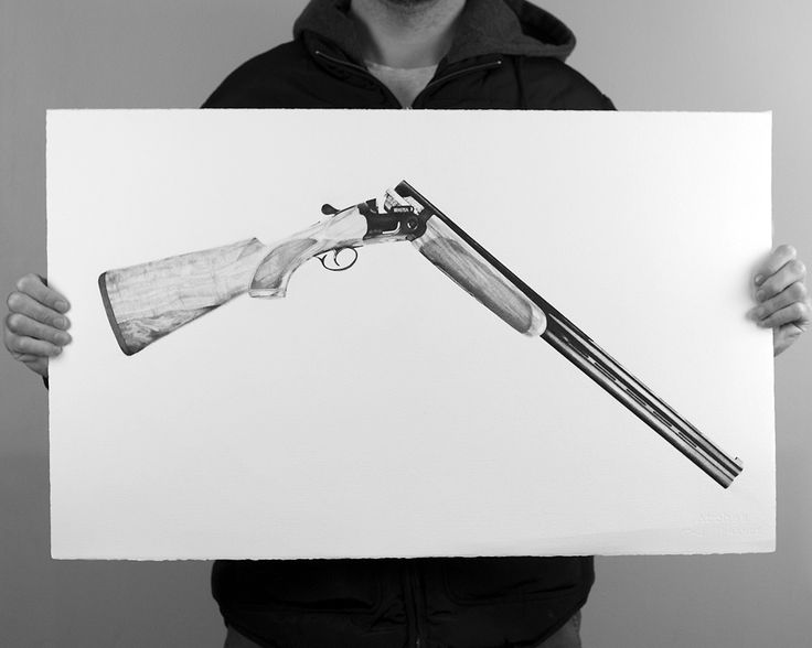 Competition Beretta 690 Sporting Clay Target Shotgun. Drawn in Fine Liner, by Brenden McDonough
