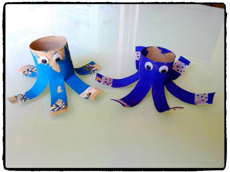 Des pieuvres en rouleau de papier toilette – Mes humeurs créatives by Flo