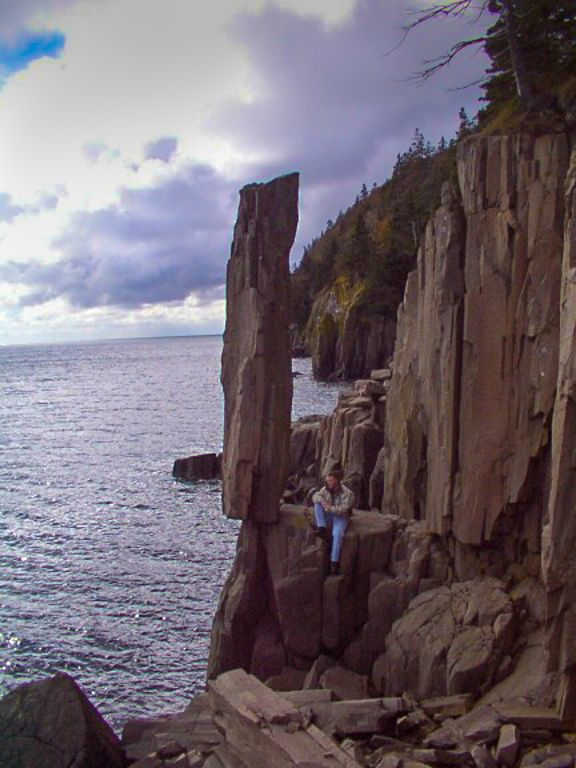 Balancing Rock..  Tiverton NS