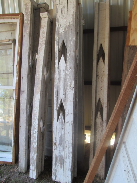 All six old Art Deco style porch posts  Living Vintage