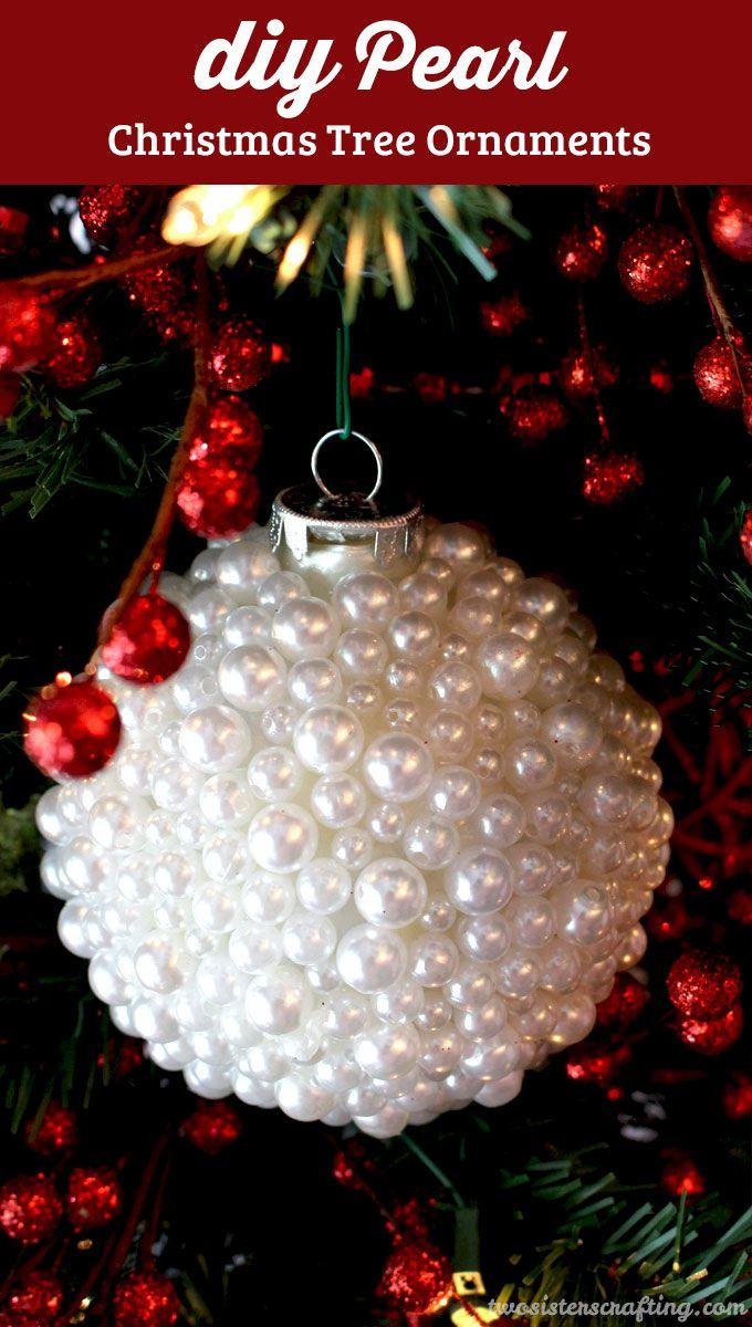 Christmas name ornaments - Pearl Christmas Tree Ornaments