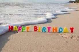 Happy birthday + beach