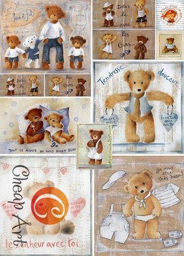 Купить или заказать Декупажная карта 'Плюшевые мишки', формат А4 в интернет-магазине на Ярмарке Мастеров. Декупажная карта 'Плюшевые мишки' , формат А4 (210x297 мм.) Плотность 40-45 г/м2 Карта подойдет любителям медвежат Тэдди , для оформления детской комнаты или подарка в стиле винтажные игрушки.